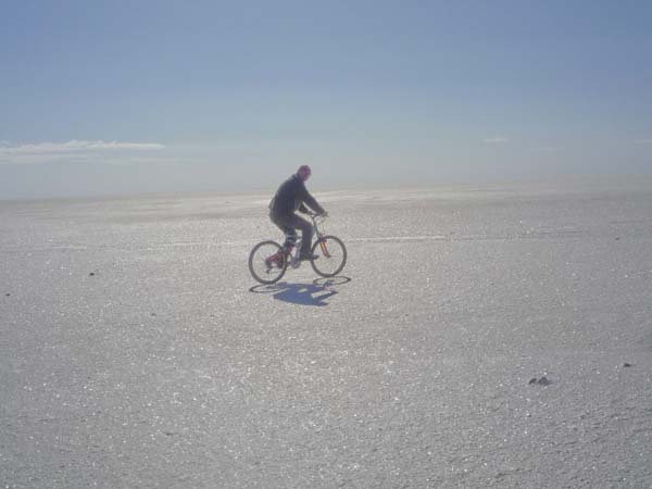 Chot El Jerid in mountain bike